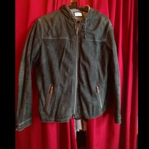 Men's Armani lambskin hoodie jacket